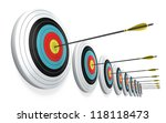 arrows hitting the center of... | Shutterstock . vector #118118473