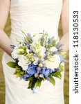 wildflower bridal bouquet | Shutterstock . vector #118130533
