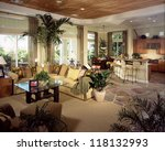 beautiful living room... | Shutterstock . vector #118132993