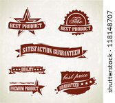 vintage retro labels and emblems | Shutterstock .eps vector #118148707