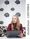 surprised teen is working on... | Shutterstock . vector #118193863