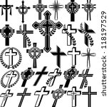 crosses - set of vector illustration - stock vector