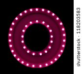 letter o with neon lights... | Shutterstock . vector #118203583