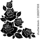 rose silhouette decorative... | Shutterstock .eps vector #118207333