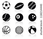 sport balls collection - stock vector