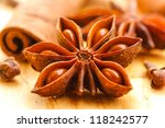 anise and cinnamon close up | Shutterstock . vector #118242577