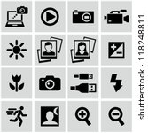 Photo icons - stock vector