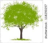 vector green blot tree