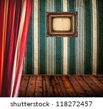 retro room with frame on wall... | Shutterstock . vector #118272457