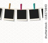 Photo Frames With Clothespins...