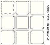 decorative frames  set 40  | Shutterstock .eps vector #118278007