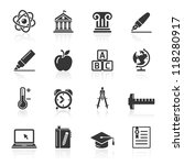 education icons set 2. vector... | Shutterstock .eps vector #118280917