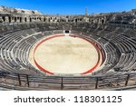 Bull Fighting Arena Nimes (Roman Amphitheater), France - stock photo