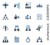 management and business icons   ... | Shutterstock .eps vector #118304893