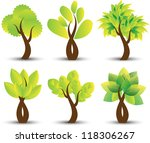 set of trees | Shutterstock .eps vector #118306267