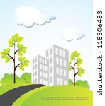 landscape with building trees... | Shutterstock .eps vector #118306483