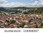 Small photo of Aerial View of Vienne France & Rhone River
