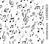 abstract musical pattern for... | Shutterstock .eps vector #118308823