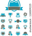 awards & trophy icons set, vector - stock vector