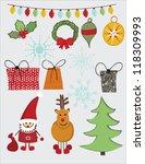 lovely christmas | Shutterstock .eps vector #118309993