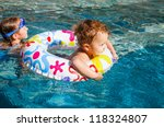 little girl and little boy... | Shutterstock . vector #118324807