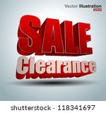 sale clearance vector | Shutterstock .eps vector #118341697