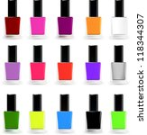 set bottles of nail polish in... | Shutterstock .eps vector #118344307