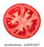 Tomato Slice Isolated On White...