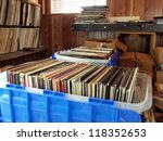 vinyl records stored in... | Shutterstock . vector #118352653