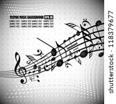 vector background with music... | Shutterstock .eps vector #118379677