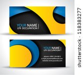 modern vector business card  ... | Shutterstock .eps vector #118383277