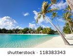beautiful beach on bora bora... | Shutterstock . vector #118383343