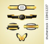 vintage banners set | Shutterstock .eps vector #118411237