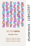 template for design invitation  ... | Shutterstock .eps vector #118412557