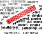 community concept | Shutterstock . vector #118418503