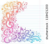 music notes g clef vector  back ...