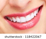 beautiful woman smile isolated... | Shutterstock . vector #118422067