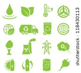 ecology and environment icon set | Shutterstock .eps vector #118430113