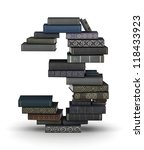 number 3  stacked from many ... | Shutterstock . vector #118433923