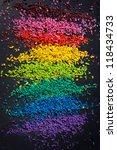 sliced color pigment closeup... | Shutterstock . vector #118434733