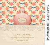 vintage background with roses... | Shutterstock .eps vector #118463443