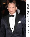 Daniel Craig arriving for the Royal World Premiere of 'Skyfall' at Royal Albert Hall, London. 23/10/2012 - stock photo