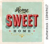 Vintage Home Sweet Home   Card...