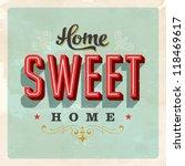 Vintage Home Sweet Home   Card...