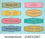 vector retro vintage border... | Shutterstock .eps vector #118512367
