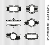 vector medallions  seals and... | Shutterstock .eps vector #118515343