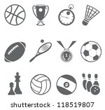 sport icons. vector set | Shutterstock .eps vector #118519807