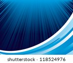 background of blue luminous rays - stock vector