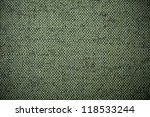 Green rough canvas background - stock photo