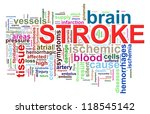 Illustration of brain stroke word tags wordcloud - stock photo